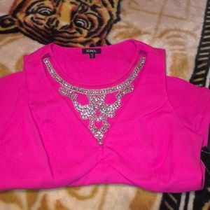 dressy top with rhinestones